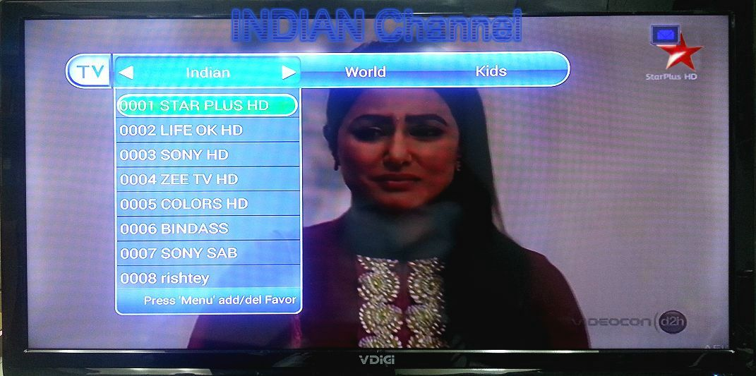 Freecall TV: Indian Channel List